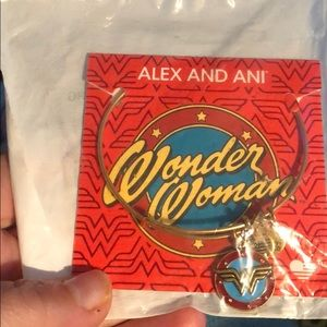 Alex and Ani Wonder Woman Gold Tone Bracelet New